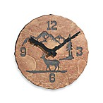 Stone Deer 10 1/2-Inch Wall Clock