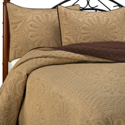 Vallejo Bedspread in Chocolate