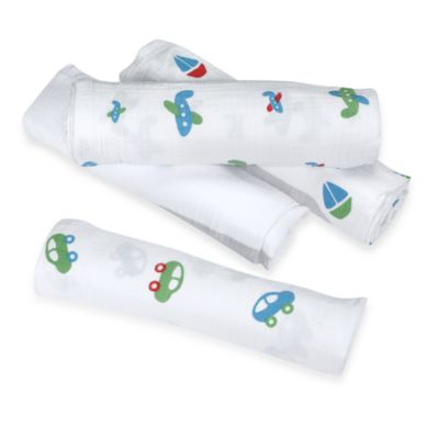 aden® by aden + anais® 4-Pack Muslin Swaddle Blankets in Boys Toys
