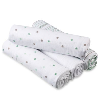 aden® by aden + anais® 4-Pack Muslin Swaddle Blankets in Oh, My