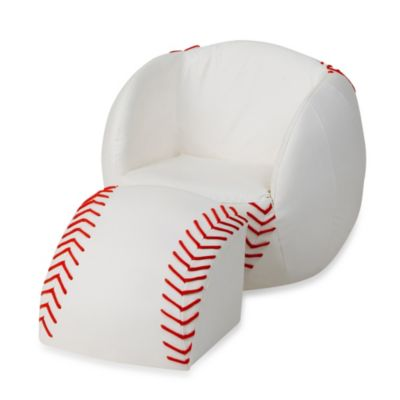 Gift Mark Baseball Chair & Ottoman Set