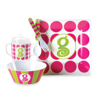 "Mud Pie® Letter ""I"" Feeding Set"