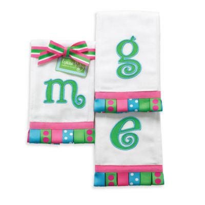 "Mud Pie™ Initial ""T"" 100% Cotton Burp Cloth"