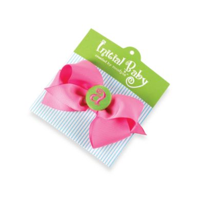 "Mud Pie™ Initial ""G"" Hair Bow"