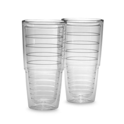 Set of 2 Clear Tumbler