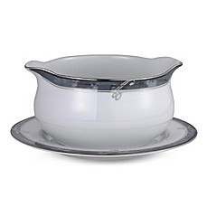 Moonstone 19-Ounce Gravy Boat with Stand
