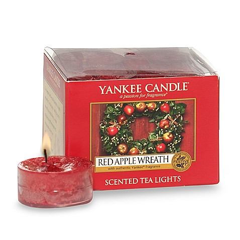 Yankee Candle® Red Apple Wreath™ Tea Light Accent Candles (Box of 12)