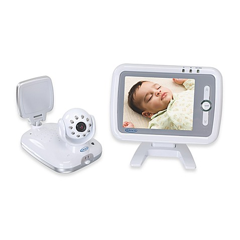 graco flat panel color sound and video monitor buybuy baby. Black Bedroom Furniture Sets. Home Design Ideas