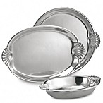 Wilton Armetale® Scallop Handle 16 1/2-Inch Oval Tray