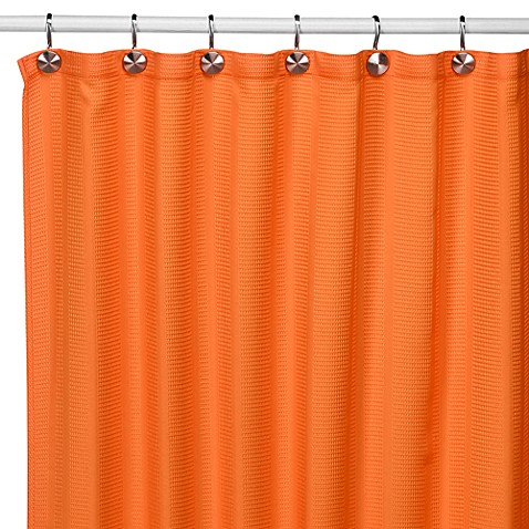 Weston Orange Fabric Shower Curtain Bed Bath Beyond