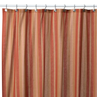 Baja Stripe Tuscan 72-Inch x 72-Inch Fabric Shower Curtain