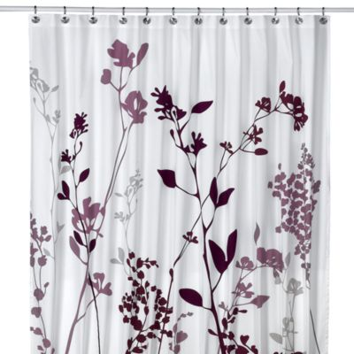 Reflections 72-Inch x 96-Inch Fabric Shower Curtain in Purple