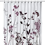 Reflections Stall Fabric Shower Curtain in Purple
