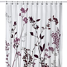 Reflections Purple Fabric Shower Curtain