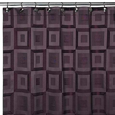"Croscill Metro Amethyst 70"" W x 84"" L Shower Curtain"