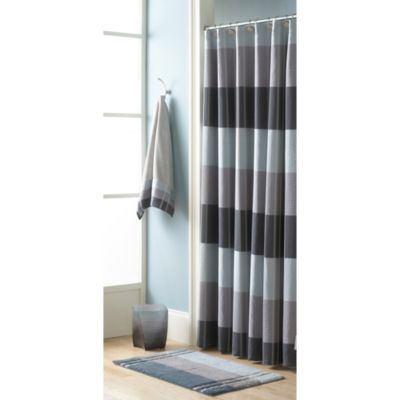 Croscill® Fairfax 72-Inch W x 72-Inch L Fabric Shower Curtain in Slate