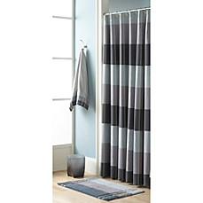 Fairfax Slate Fabric Shower Curtain by Croscill