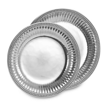 Wilton Armetale® Flutes and Pearls 13 1/2-Inch Round Tray