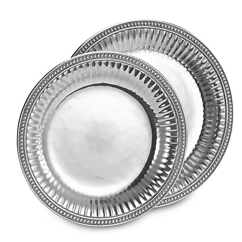 Wilton Armetale® Flutes and Pearls Round Trays
