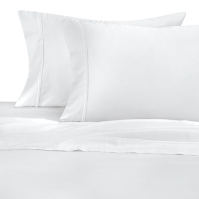 300 Thread Count Cotton Sateen Sheet Set - Queen - White