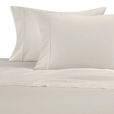 300 Thread Count Cotton Sateen Standard Pillowcases in Ivory (Set of 2)
