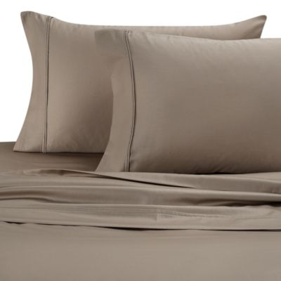 300 Thread Count Cotton Sateen Sheet Set - Full - Taupe