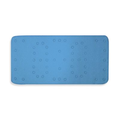 Blue Cushioned Bath Mat by Ginsey