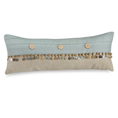 Natural Shells Oblong Throw Pillow Coastal Furniture