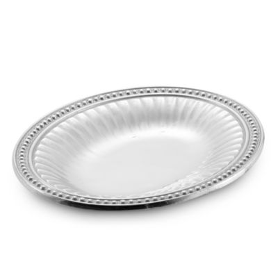 Wilton Armetale® Flutes and Pearls 9 3/4-Inch Oval Bread Tray