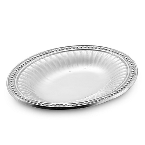 Wilton Armetale® Flutes and Pearls 9-3/4-Inch Oval Bread Tray