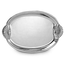 Wilton Armetale® Scallop Handle 21-Inch Buffet Tray