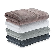 Ampersand Cuff Bath Towels, 100% Cotton