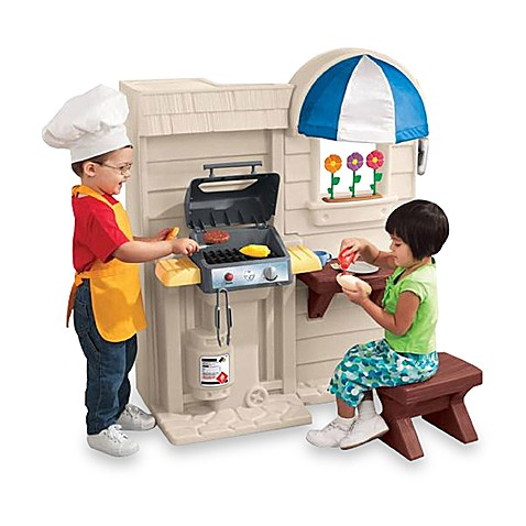 tikes grill kitchen cook inside outside play baby sided bath