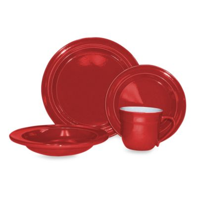 Emile Henry 4-Piece Place Setting in Cerise