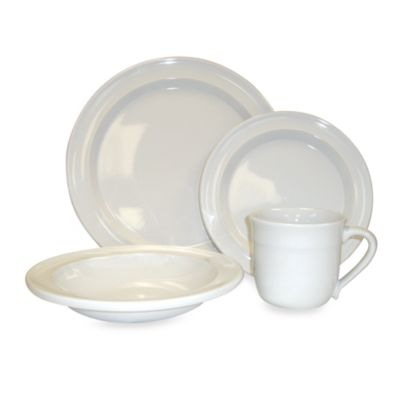 Emile Henry White 4-Piece Place Setting
