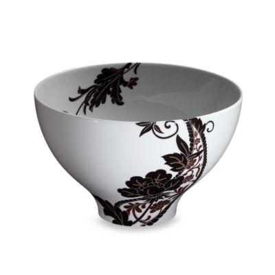 White Black Salad Bowl