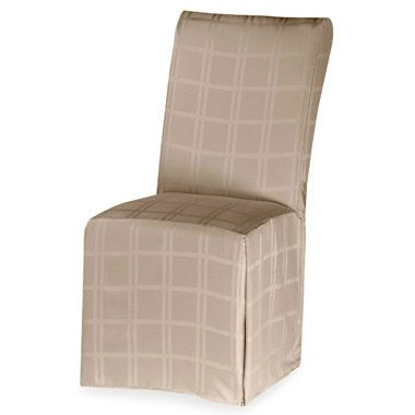 Origins Microfiber Beige Dining Room Chair Cover