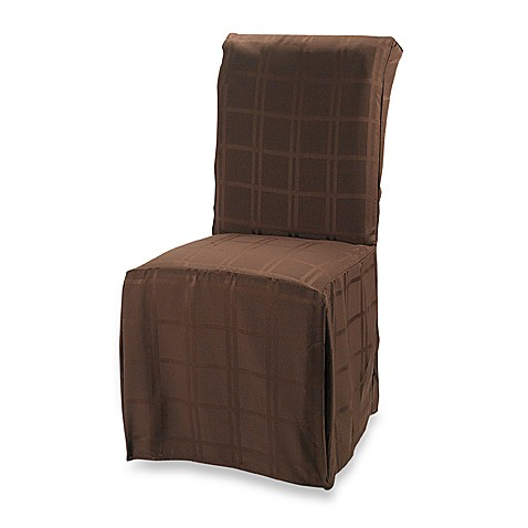 Origins Microfiber Chocolate Dining Room Chair Cover