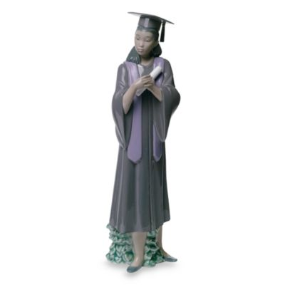 Nao® by Lladro Treasured Memories Graduation Joy Porcelain Figurine in African American Female