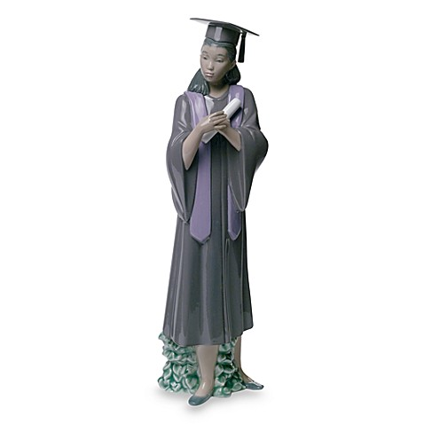 Nao® Treasured Memories Graduation Joy Porcelain Figurine in African American Female