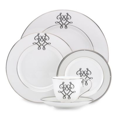 Lenox® Scripted Platinum 5-Piece Place Setting