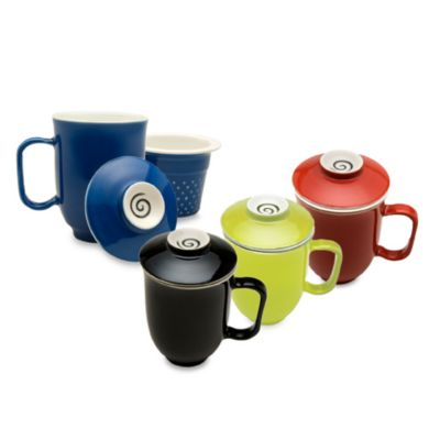 The Tea Spot 16-Ounce Ceramic Tea Mug with Infuser and Lid