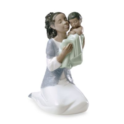 Nao® by Lladro Treasured Memories in Loving Arms African American Porcelain Figure