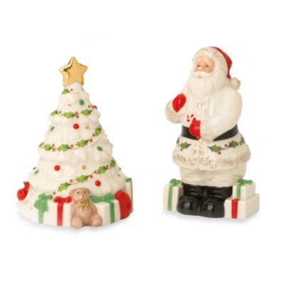 Lenox® Santa and Tree Salt and Pepper Shaker Set