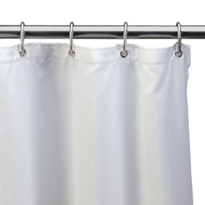 Hotel White Fabric 54-Inch x 78-Inch Shower Stall Curtain Liner