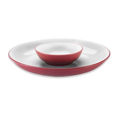 Noritake® Colorwave Raspberry Chip & Dip