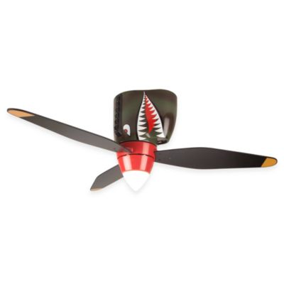 Design Trends Tiger Shark War Plane Ceiling Fan