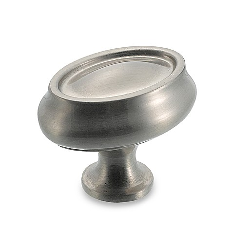 Amerock® Traditions 1 1/2-Inch Manor Egg Cabinet Drawer Knob in Satin Nickel