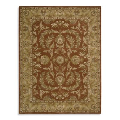 India House 5-Foot x 8-Foot Room Size Rug in Rust