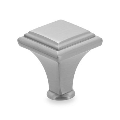 Amerock® Manor 1-Inch Raised Cabinet Drawer Knob in Satin Nickel